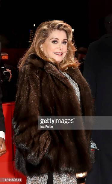 French actress Catherine Deneuve poses at the 'Farewell To The Night' premiere during the 69th Berlinale International Film Festival Berlin at...