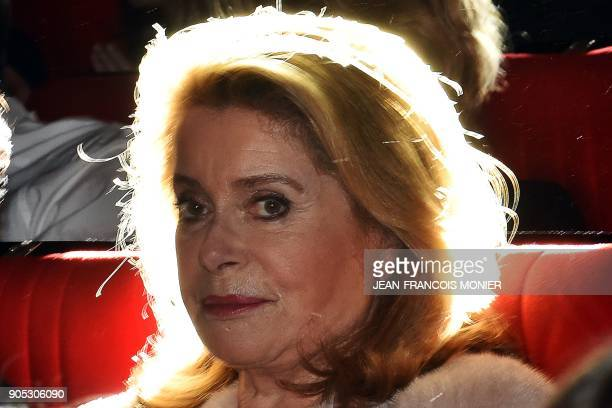 French actress Catherine Deneuve president of the Premiers Plans film festival attends the festival's opening session on January 15 in Angers western...