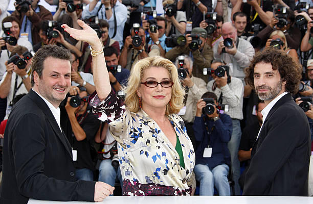 a73a26d1b5a French actress Catherine Deneuve (C) wav Pictures