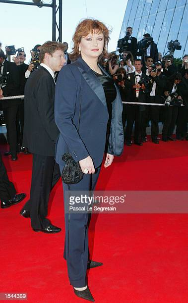 French actress Catherine Jacob arrives at the Festival Palace to attend the screening of the film Sweet Sixteen May 21 2002 at the 55th International...