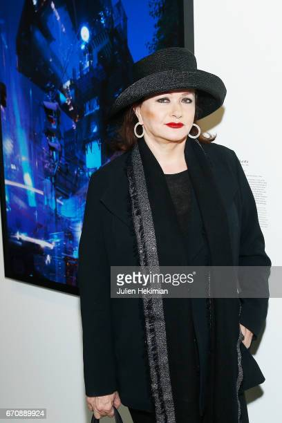 French actress Catherine Jacob attends 'Auto Photo' Exhibition Preview at Fondation Cartier on April 18 2017 in Paris France