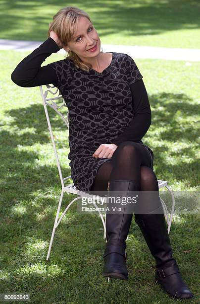 French actress Catherine Marchal attends the 'MR 73 L'Ultima Missione' photocall at the French Embassy Palazzo Farnese on April 16 2008 in Rome Italy