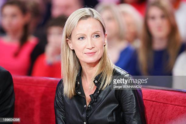 French actress Catherine Marchal attends 'Vivement Dimanche' TV show on October 30 2012 in Paris France