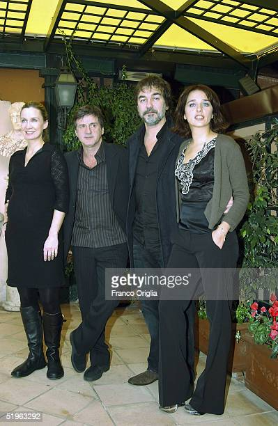 French actress Catherine Marchal French actor Daniel Auteil director Olivier Marchal and Italian actress Valeria Golino attend a photocall to promote...