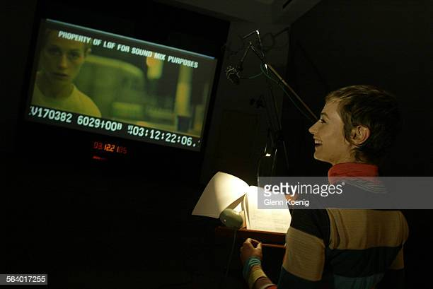 French actress Cecile de France was in the studio dubbing her lines from French into English for the horror film High Tension to be released by Lions...