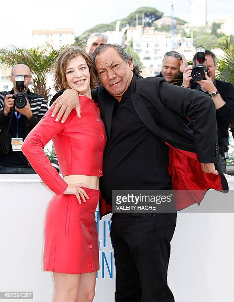 French actress Celine Sallette and French director Tony Gatlif pose during a photocall for the film Geronimo at the 67th edition of the Cannes Film...