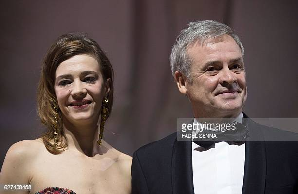French actress Celine Sallette and French film director Emmanuel Courcol attend the 16th Marrakech International Film Festival Opening Ceremony on...