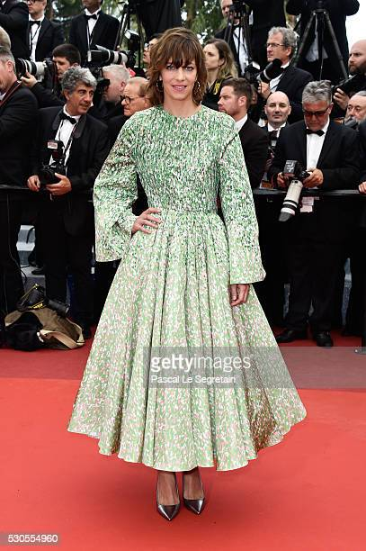 French actress Celine Sallette attends the 'Cafe Society' premiere and the Opening Night Gala during the 69th annual Cannes Film Festival at the...
