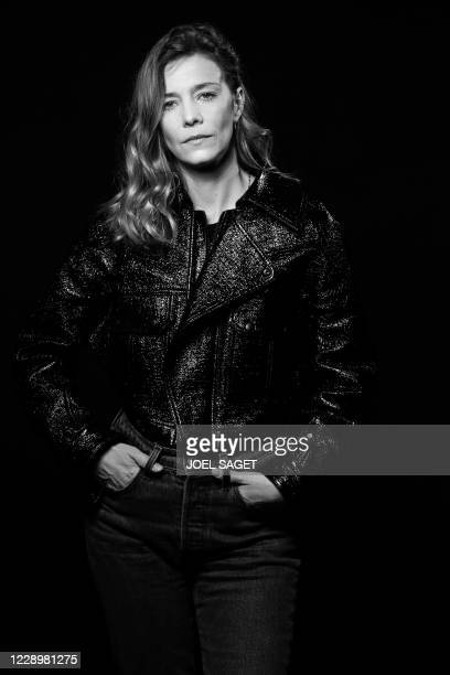 French actress Celine Sallette poses for a photo session during the 3rd edition of the Cannes International Series Festival on October 9, 2020 in...