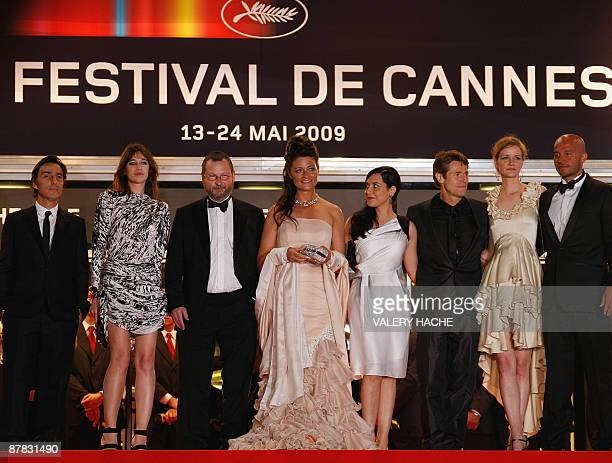 French actress Charlotte Gainsbourg her husband Yvan Attal Danish director Lars Von Trier his wife Bente Froge Italian director Giada Colagrande US...