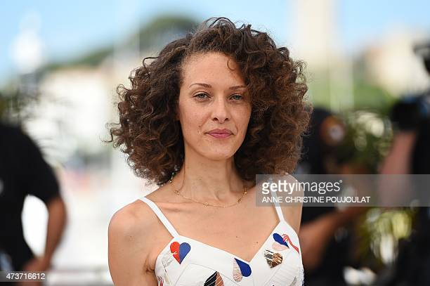 """French actress Chrystele Saint-Louis Augustin poses during a photocall for the film """"Mon Roi"""" at the 68th Cannes Film Festival in Cannes,..."""