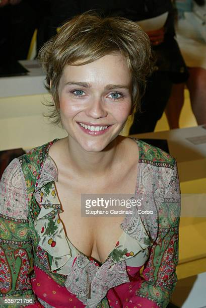 French actress Claire Borotra attends the fashion show