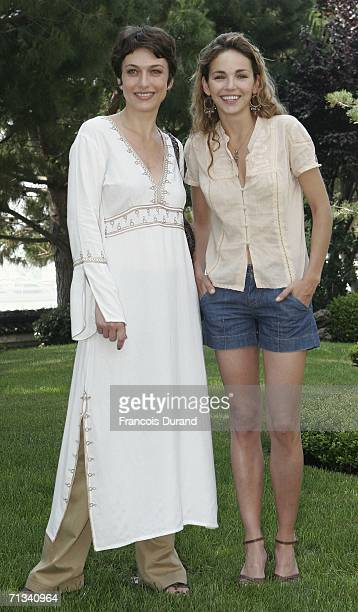 French actress Claire Keim and Natacha Lindinger attend the photocall of Le Maitre du Zodiaque during the 46th annual Monte Carlo Television Festival...