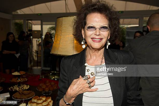 French actress Claudia Cardinale attends the '27th Fete Du Cinema' Press Conference Presentation at Cinema du Pantheon on June 8 2011 in Paris France