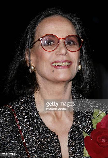French actress Claudine Auger arrives at the 32nd Cesars French film awards ceremony at the Chatelet theater on February 24 2007 in Paris France