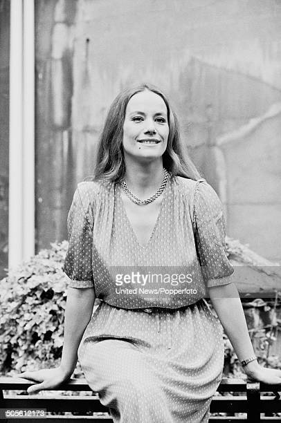 French actress Claudine Auger in London on 2nd April 1984