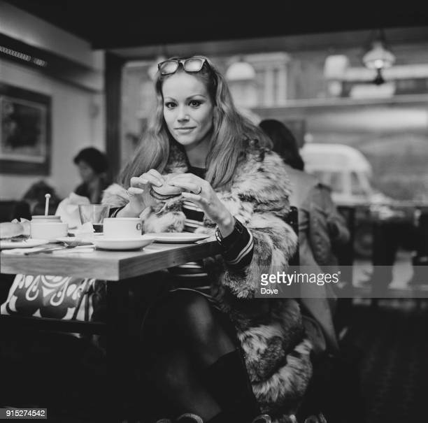 French actress Claudine Auger London UK 19th February 1968