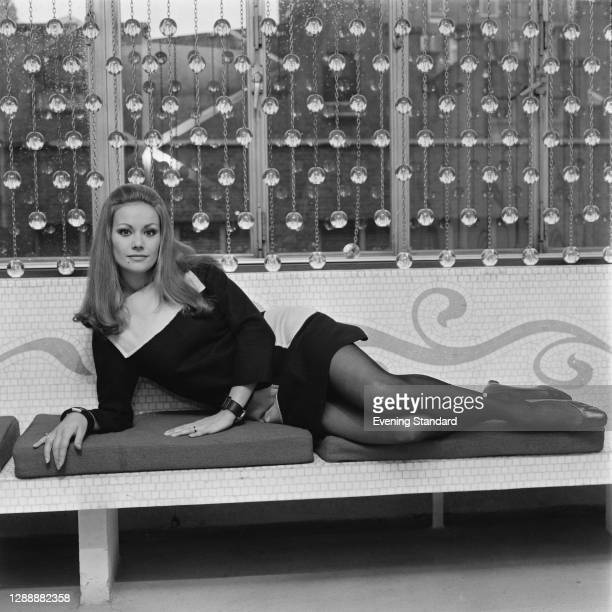 French actress Claudine Auger, UK, December 1967.