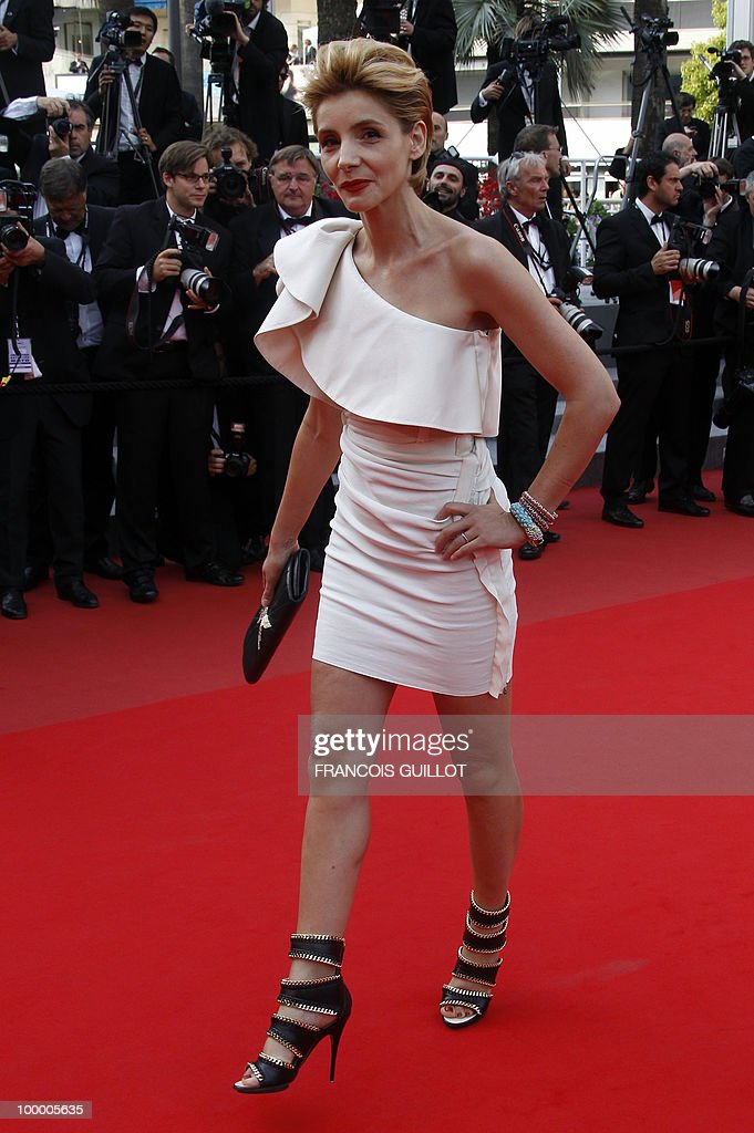 French actress Clotilde Courau arrives for the screening of 'Poetry' presented in competition at the 63rd Cannes Film Festival on May 19, 2010 in Cannes.