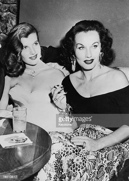 French actress Corinne Calvet with Czechoslovakian actress Florence Marly at the World Film Favourite Festival at Palm Springs California 3rd March...