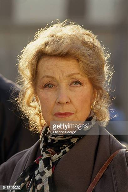 French actress Danielle Darrieux on the set of Quelques jours avec moi directed by Claude Sautet based on JeanFrançois Josselin's novel