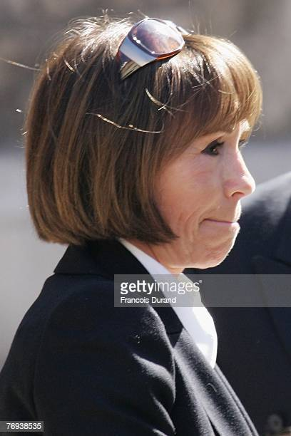 French actress Danielle Evenou arrives at the SaintJean Cathedral of Lyon to attend the Jacques Martin funeral ceremony held on September 20 2007...