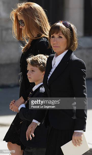 French actress Danielle Evenou arrives to attend French TV star Jacques Martin's funeral on September 20 2007 in Lyon France