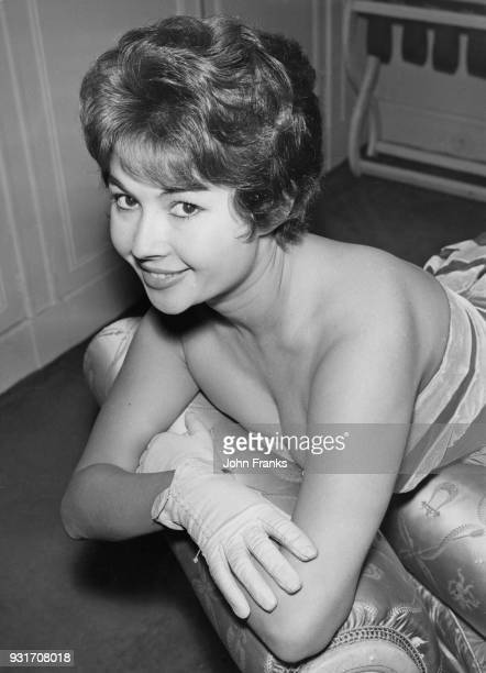 French actress Dany Carrel at a press reception at the Dorchester Hotel in London 11th December 1958 She is in London to attend the premiere of her...