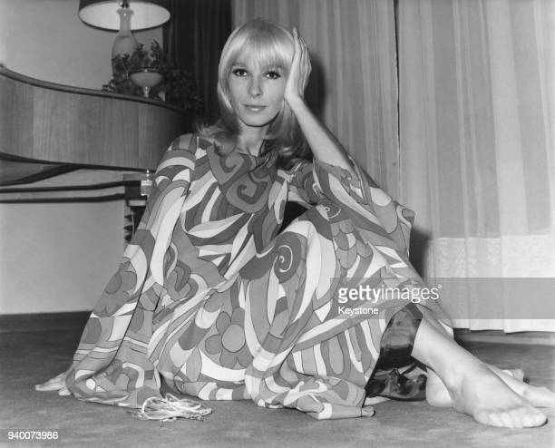 French actress Dany Saval at her home in France 25th November 1969