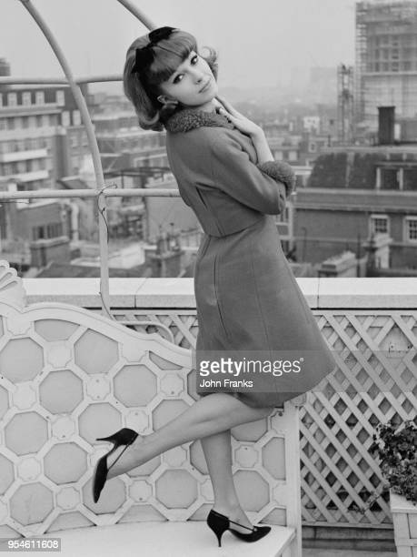 French actress Dany Saval at the Dorchester Hotel in London 5th February 1962 She had just been chosen to appear in the Walt Disney film 'Moon Pilot'