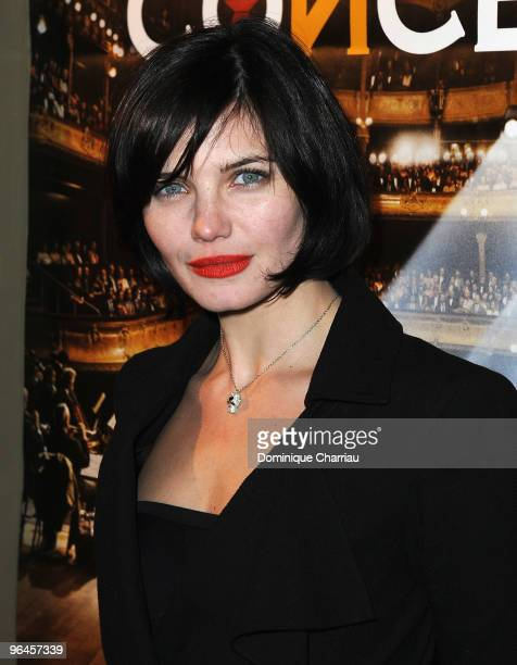 French actress Delphine Chaneac poses as she attends Le Concert 2 Millions Viewers Celebration Party at Ritz Club on February 5 2010 in Paris France
