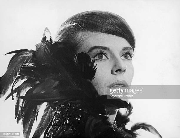 French Actress Delphine Seyrig While Filming The Movie The Last Year At Marienbad Directed By Alain Resnais In 1961