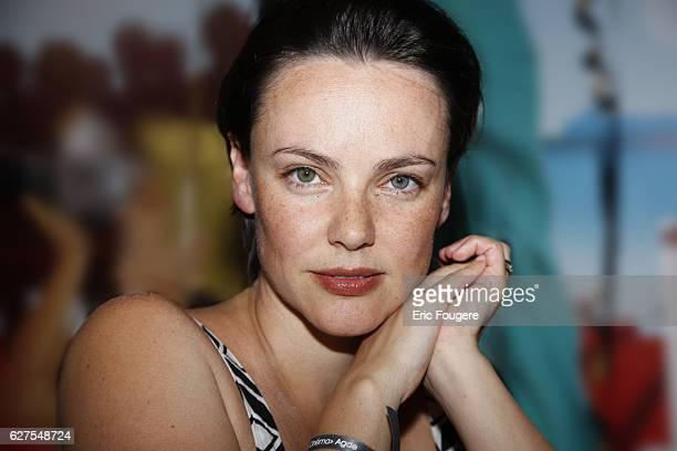 French actress Delphine Zentout at the Cap d'Agde Film Festival 2009