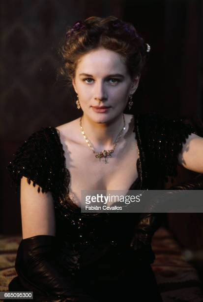 French actress Dominique Sanda on the set of the film L'Eredita Ferramonti directed by Italian director Mauro Bolognini and based on the 1883 novel...
