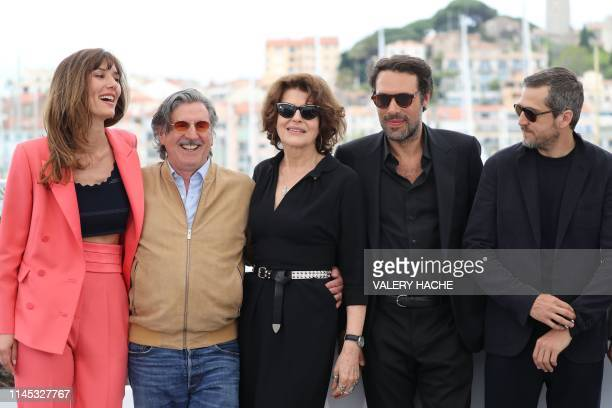 French actress Doria Tillier French actor Daniel Auteuil French actress Fanny Ardant French director Nicolas Bedos and French actor Guillaume Canet...