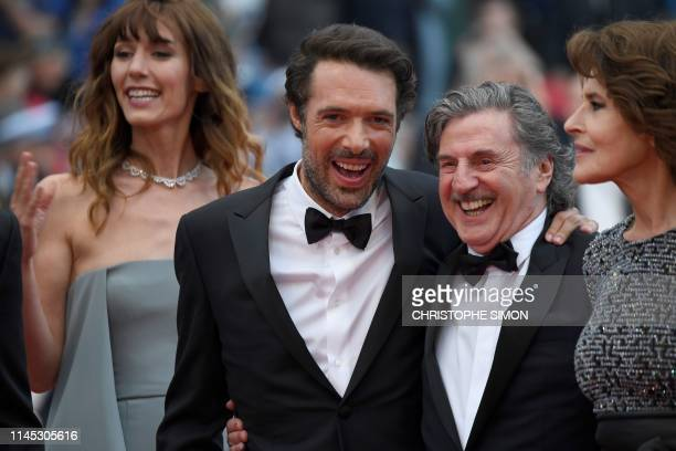 French actress Doria Tillier French director Nicolas Bedos French actor Daniel Auteuil and French actress Fanny Ardant arrive for the screening of...