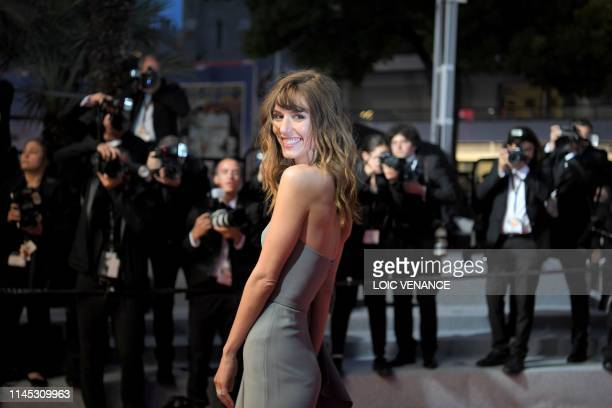 TOPSHOT French actress Doria Tillier leaves following the screening of the film La Belle Epoque at the 72nd edition of the Cannes Film Festival in...