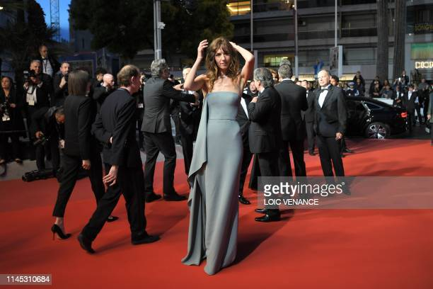 French actress Doria Tillier poses before leaving the Festival Palace after attending the screening of the film La Belle Epoque at the 72nd edition...