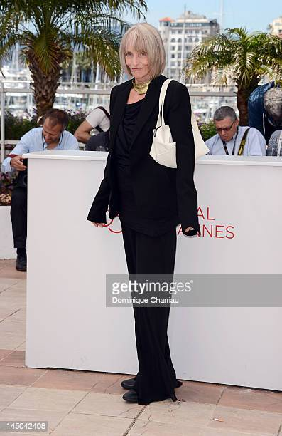 French actress Edith Scob attends the Holy Motors Photocall during the 65th Annual Cannes Film Festival at Palais des Festivals on May 23 2012 in...