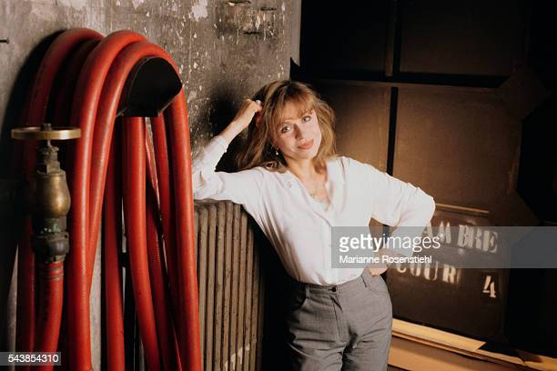 French actress Elisabeth Depardieu during the production of the theater play Souvenirs avec Piscine directed by Bernard Murat at the Atelier Theater