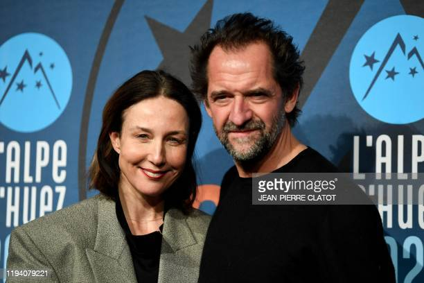 French actress Elsa Zylberstein and French actor Stephane de Groodt pose during the presentation of the film Tout nous sourit as part of the 23rd...