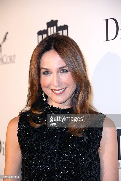 French actress Elsa Zylberstein is pictured during the inauguration ceremony of the Cite du cinema a film studios complex heralded as Hollywood à la...