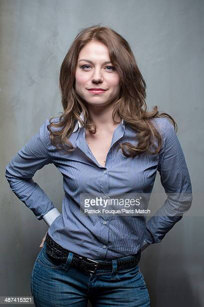 French actress Emilie Dequenne is photographed for Paris Match on April 10 2014 in Paris France