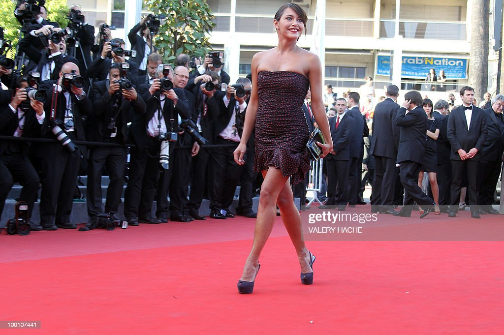 French actress Emma De Caunes arrives for the screening of 'Fair Game' presented in competition at the 63rd Cannes Film Festival on May 20, 2010 in Cannes.