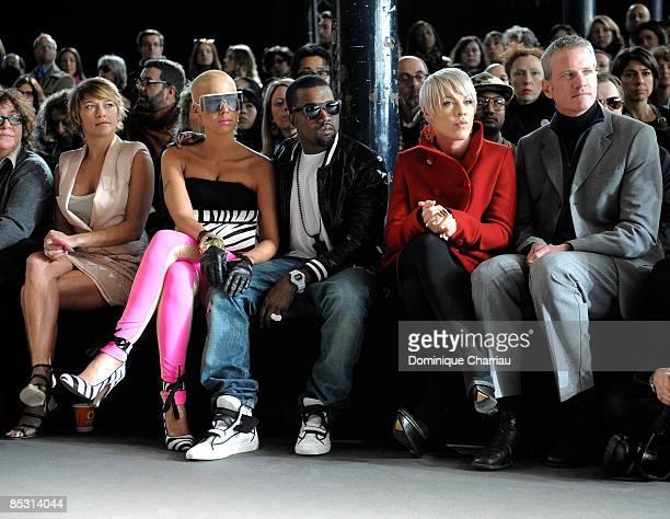 French actress Emma De Caunes singer Amber Rose singer Kanye West singer Pink and senior vice president of PETA Dan Mathews attend the Stella...