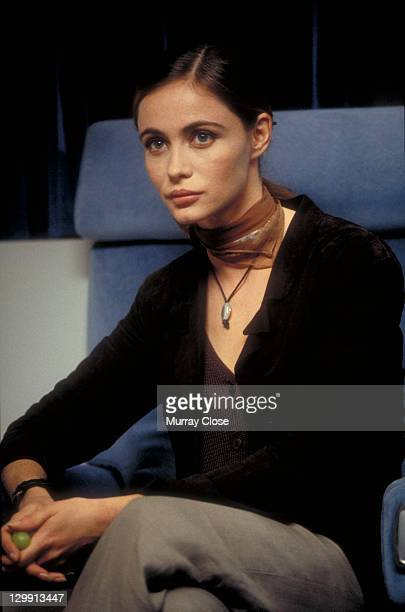 French actress Emmanuelle Beart as Claire Phelps in a scene from the film 'Mission Impossible' 1996