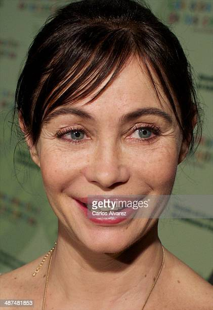 French actress Emmanuelle Beart attends the Los Ojos Amarillos de los cocdrilos premiere at the Academia de Cine on April 30 2014 in Madrid Spain
