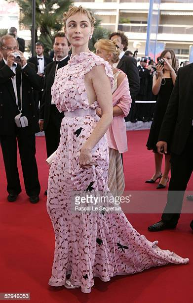 French actress Emmanuelle Beart attends the screening of Peindre Ou Faire L'Amour at the Palais during the 58th International Cannes Film Festival...