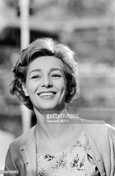 French actress Emmanuelle Riva in Paris Sixties