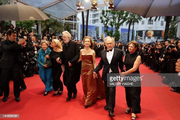 French actress Emmanuelle Riva Suzy Haneke Austrian director Michael Haneke French actress Isabelle Huppert French actor JeanLouis Trintignant and...